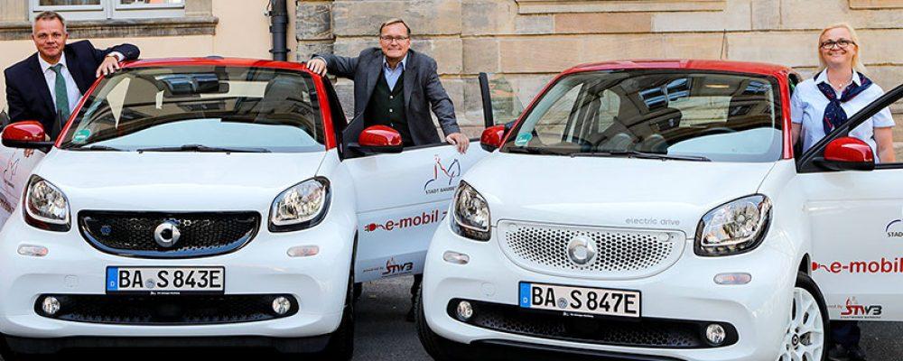 Erste Elektroautos im städtischen Fuhrpark