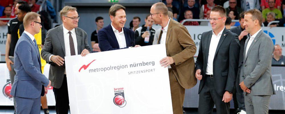 Brose Bamberg ist offizieller Imageträger der Metropolregion Nürnberg