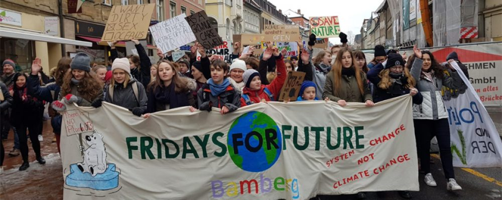 """""""Nicht mit uns!"""" Bamberg demonstriert für das Klima"""