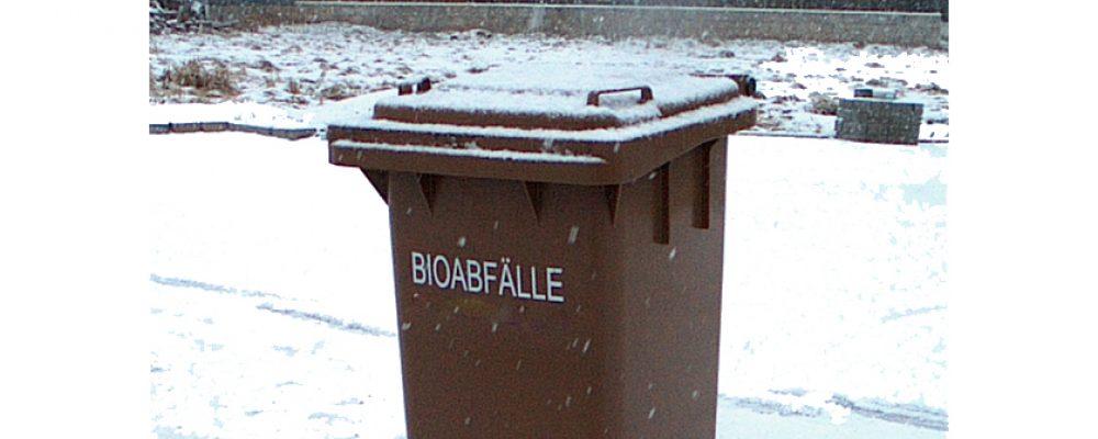 Umgang mit der Biotonne in der kalten Jahreszeit