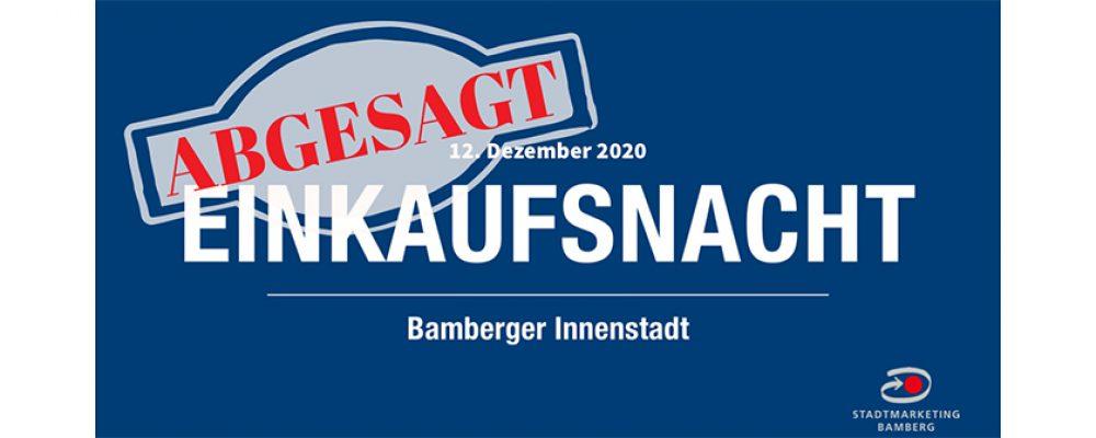 Bamberger Einkaufsnacht am 12.12.2020 abgesagt