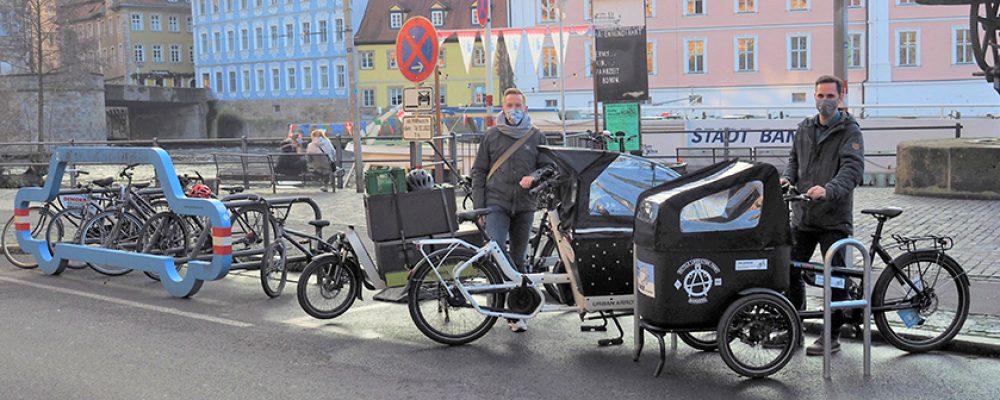 Neu: Lastenfahrrad-Parkplätze in der Innenstadt