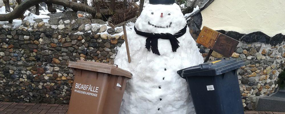 Abfuhren verschieben sich nach Schneefällen