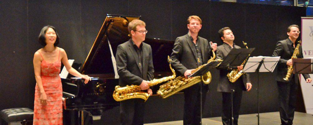 Vier Saxophone und Klavier – das Alliage Quintett
