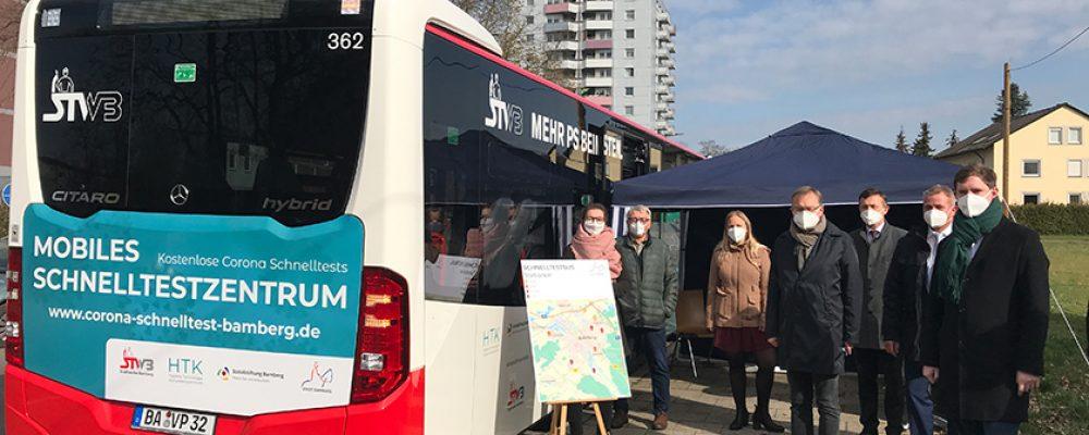 Erfolgreiche Premiere für den Bamberger Schnelltest-Bus