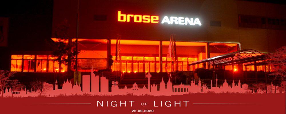 "Aktion ""Night of Light"" – Auch Bamberg leuchtet rot"