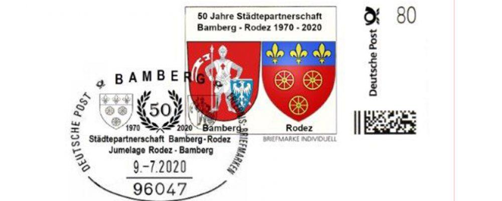 Sonderbriefmarke Bamberg – Rodez erscheint