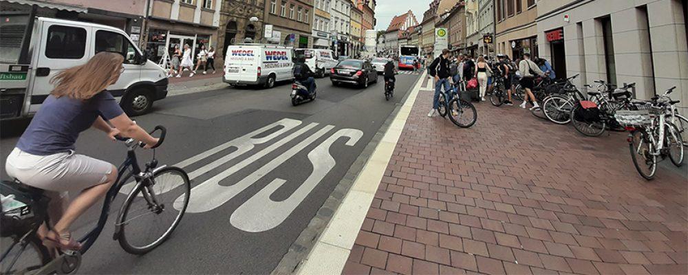 Frischekur für die Lange Straße in Bamberg