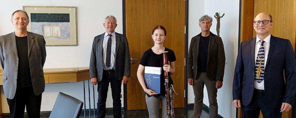 Schülerin der Kreismusikschule ausgezeichnet
