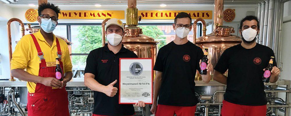 Silber für Weyermann® India Pale Ale bei Craft Beer Award