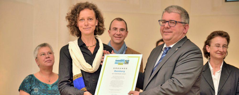 Drei Jahre Fairtraide-Town Bamberg