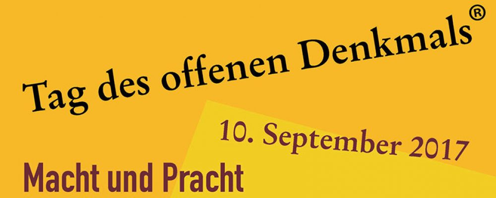 Tag des offenen Denkmals 2017 in Bamberg am 10. September 2017