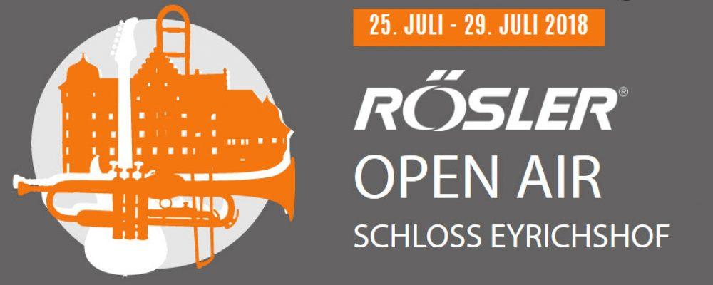 Rösler Open Air Schloss Eyrichshof 2018
