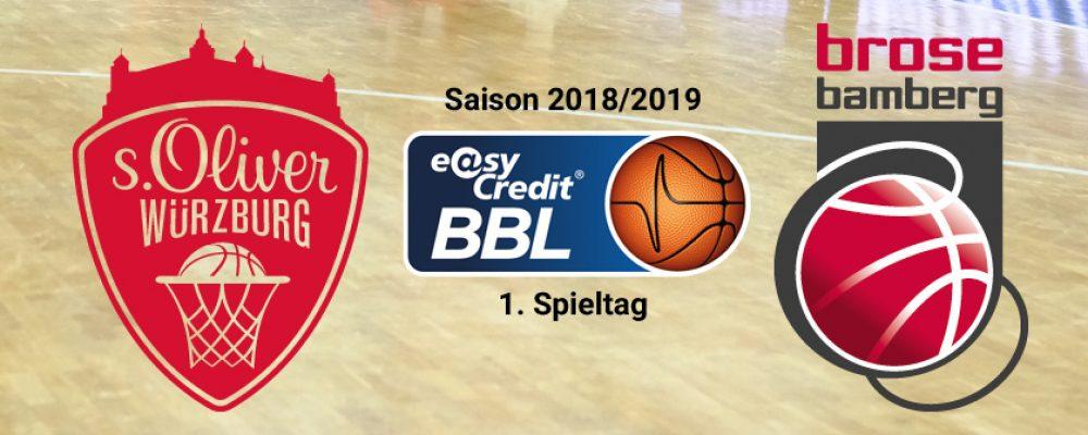 Derbytime zum Saisonstart: Brose zu Gast in Würzburg