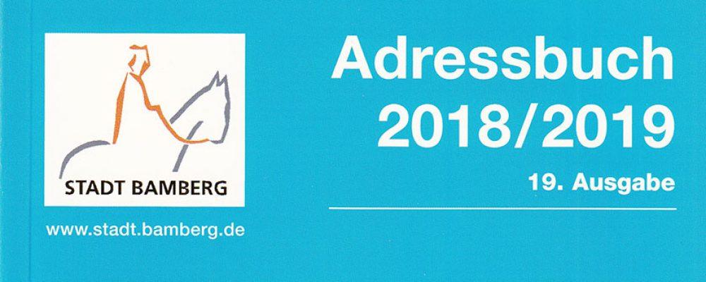 Neues Adressbuch Bamberg erschienen