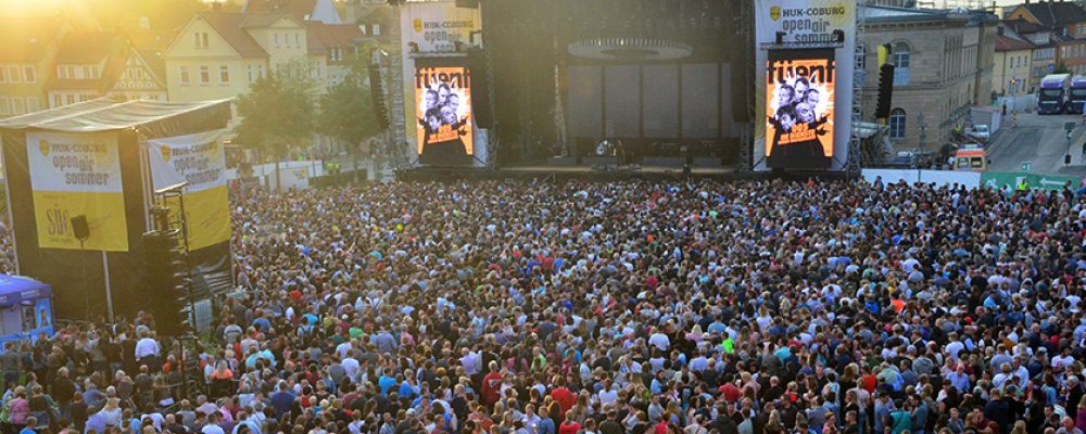 Besucherrekord beim HUK COBURG open air sommer auf dem Schlossplatz