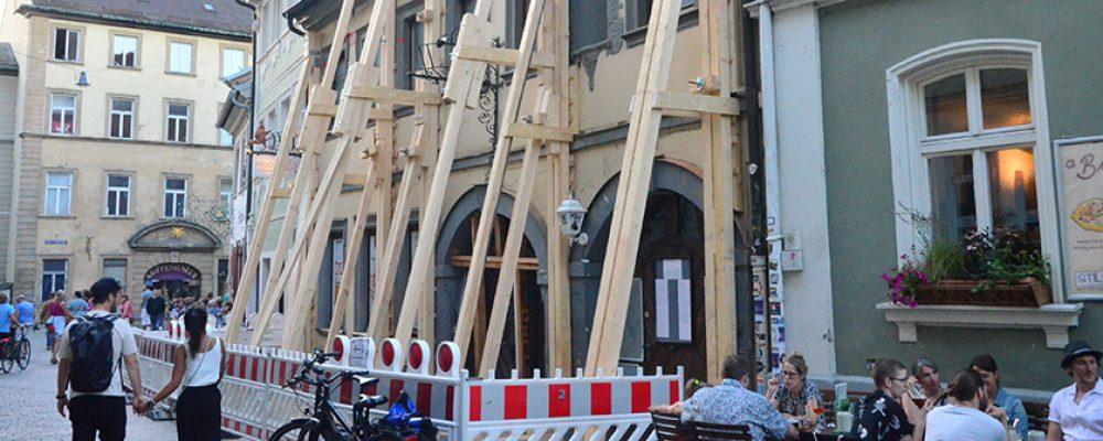 """""""Exoskelett"""" Obere Sandstraße wird abgebaut"""