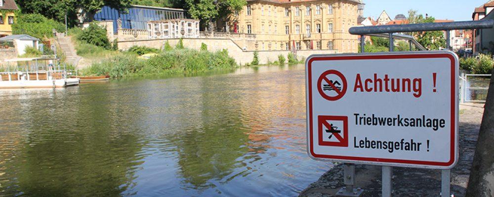 Badeverbot nicht nur in Regnitz und Kanal