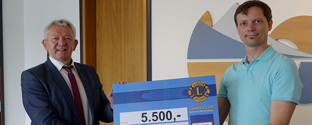 Lions Club Bamberg spendet 5.500 Euro