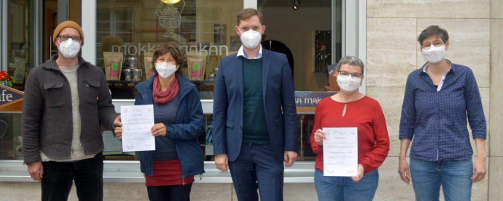 """Klimaschutzpreis für """"Solawi"""" und """"Mokka Makan"""""""