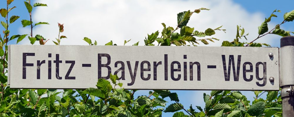 Bürgerbeteiligung zum Fritz-Bayerlein-Weg