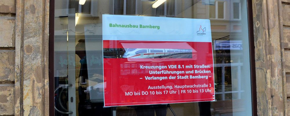"""Eröffnung der Ausstellung """"Bahnausbau Bamberg"""