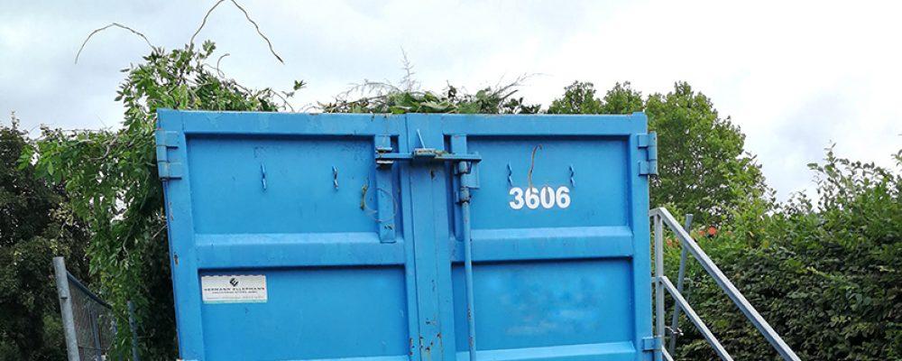 Container für Grün- und Gartenabfälle nur für Landkreisbewohner