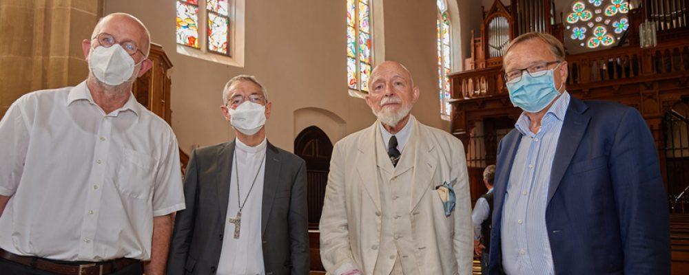 Weitere vier Lüpertz-Fenster in St. Elisabeth der Öffentlichkeit vorgestellt