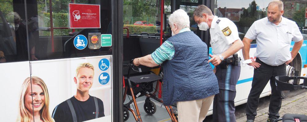 Endlich mit Rollator Busfahren